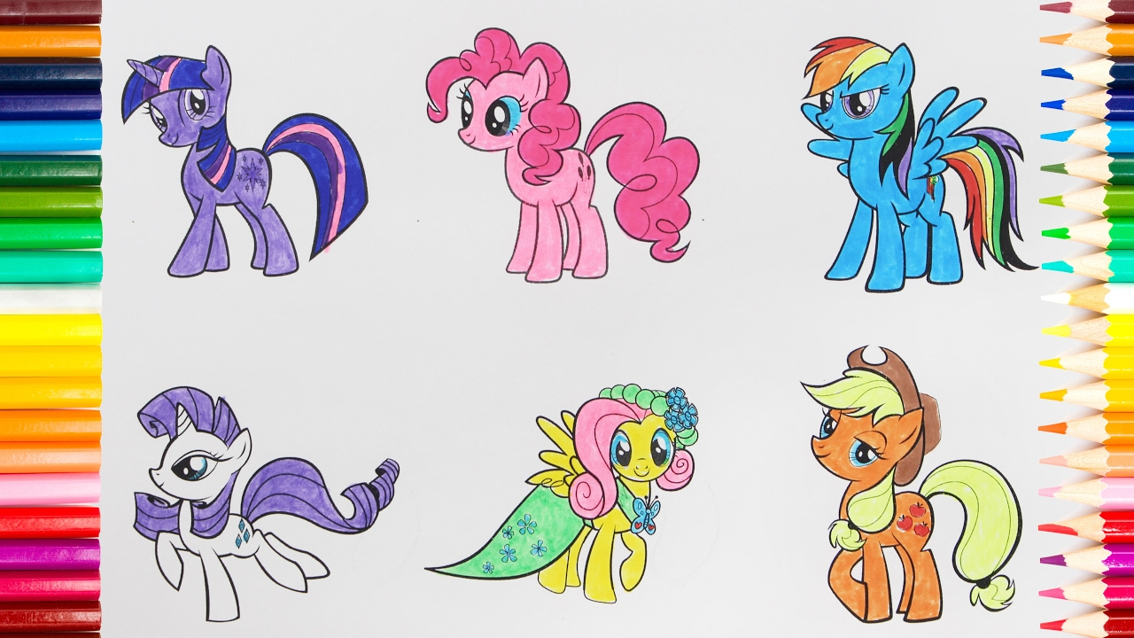 Uncategorized Drawing Ponies my little pony drawing for kids how to paint a picture all ponies from pony