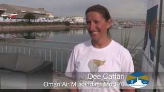 Dee Caffari from Oman Air Musandam - in Plymouth