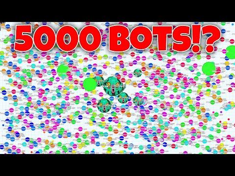 Hacked Agar.io!?! 5000 BOTS!!! Agario will never change!!! #Stop Bots?