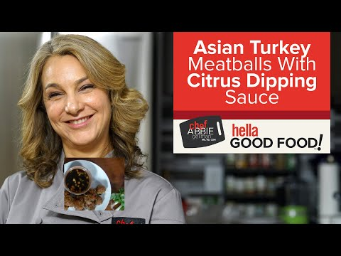 Asian Turkey Meatballs with Citrus Dipping Sauce