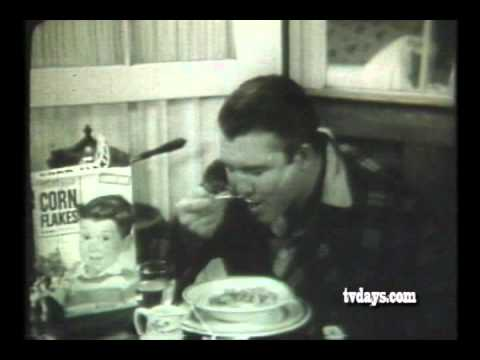 UNCUT FOOTAGE OF GEORGE REEVES DIRECTING TEST OF KELLOGG'S CORN FLAKES COMMERCIAL AT HIS HOME