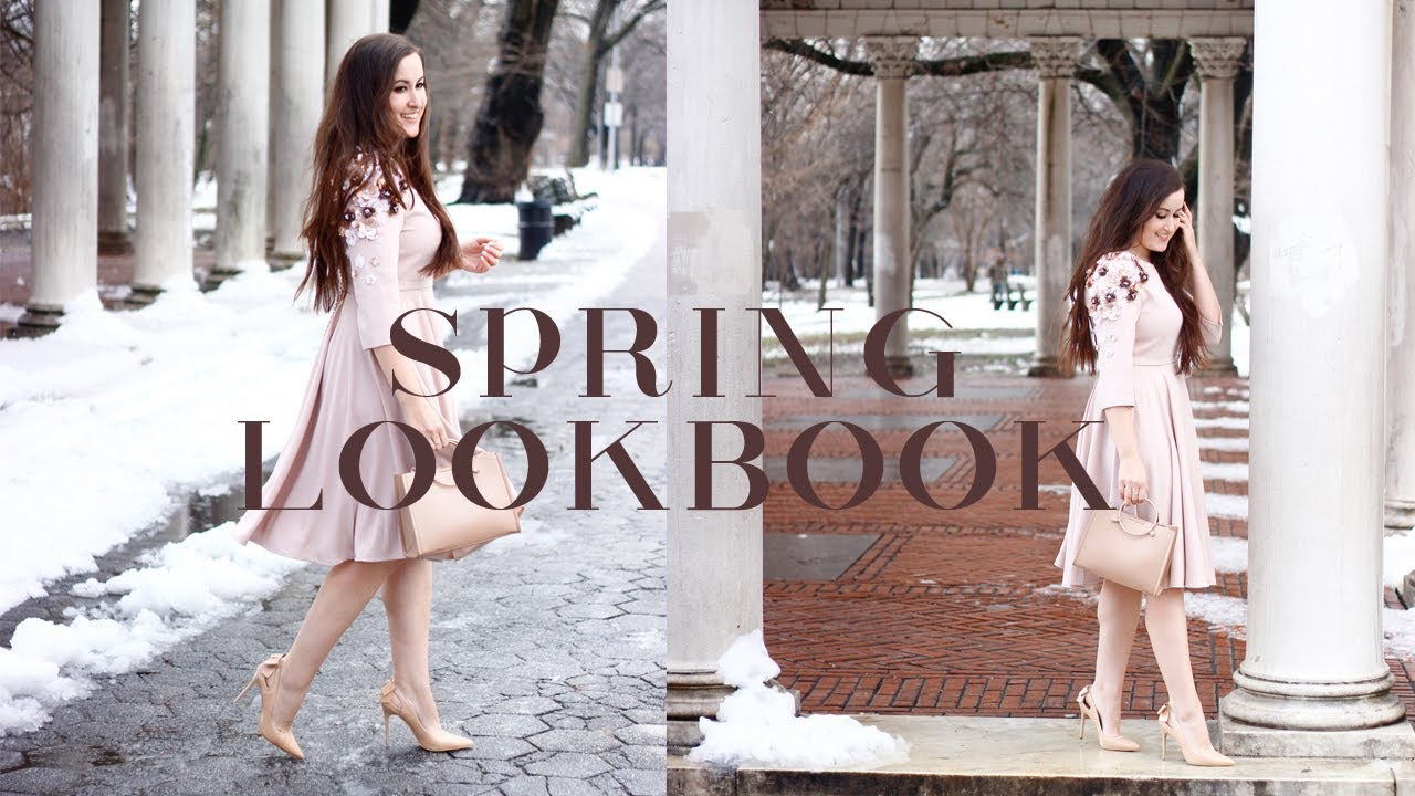 SPRING 2018 HOW TO SYTYLE LOOKBOOK: 4 MIDI SKIRTS, 1 DRESS (5 OUTFITS) 2