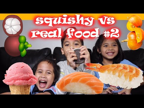 SQUISHY FOOD vs REAL FOOD CHALLENGE Part 2  TheRempongs