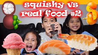 SQUISHY vs REAL FOOD CHALLENGE Part 2 | TheRempongsHD