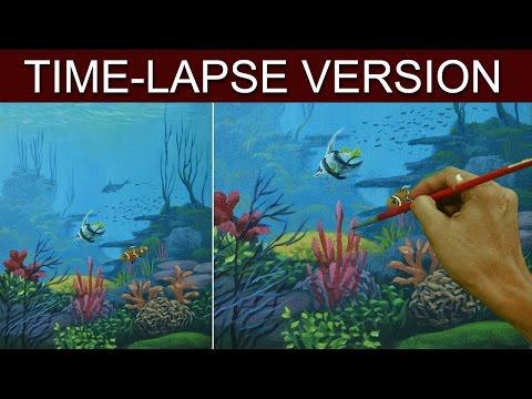 Time-Lapse Version | Underwater | Acrylic Painting by JM Lisondra
