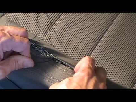 A Really Rough Repair of Torn Car Seat Fabric