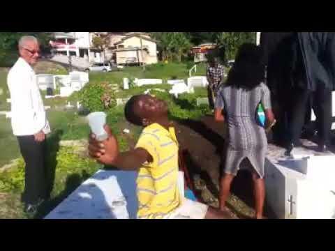Soubies Sings at Funeral in Grenada 2018