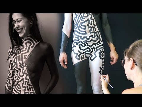 Keith Haring Inspired Full Body Paint
