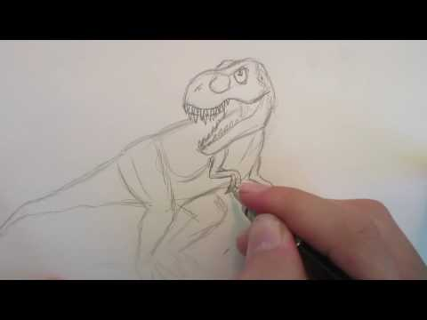 How to Draw Tyrannosaurus Rex, from Jurassic World the Game Part 1.