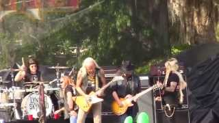 """Lynyrd Skynyrd performing """"Workin' For MCA"""" at the 2014 Wanee Music..."""