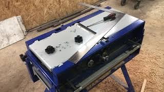 Настройка фуговальной части станка Белмаш СДМП-2200 перевертыш
