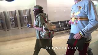 Mel B a member of the girl group Spice Girls, Scary Spice at lax