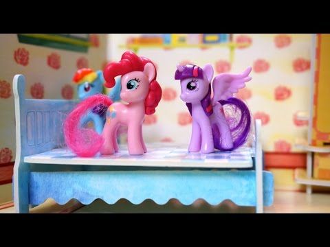 Five My Little Pony MLP Jumping On The Bed / 5 Little Pony Nursery Rhymes Lyrics Kid's Song Video