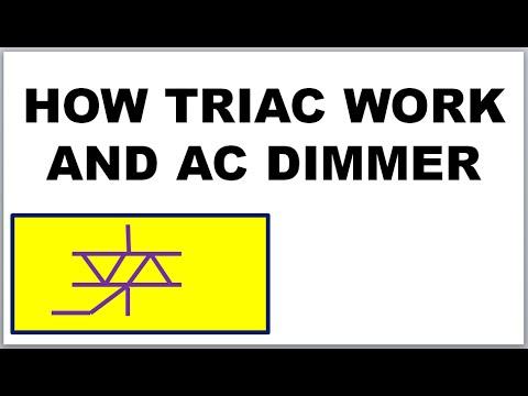 Triac How Triac Works In Dimmer Motor Speed Control