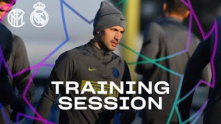 INTER vs REAL MADRID | PRE-MATCH TRAINING SESSION | 2020-21 UEFA CHAMPIONS LEAGUE ⚫🔵