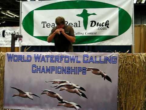 Travis Schneider, World Waterfowl Calling Champion...