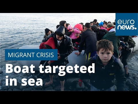 Migrant boat targeted in sea between Turkey and Greece
