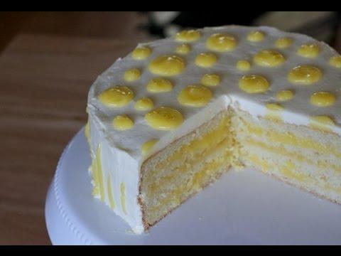 Изысканный лимонный торт на день рождения