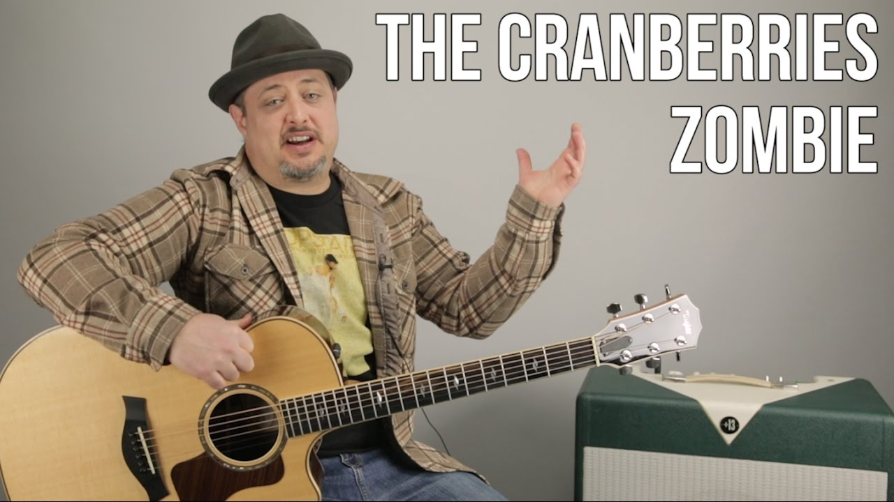 How To Play Zombie By The Cranberries On Guitar Easy Acoustic