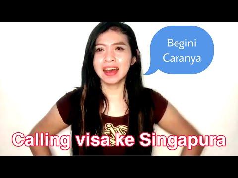 Calling visa ke Singapura,begini caranya...