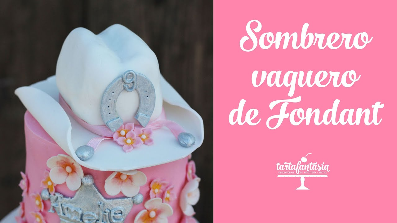 Sombrero vaquero de fondant sombrero cowgirl youtube for Stickers pared baratos