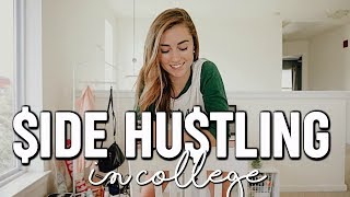 EASY SIDE HUSTLES FOR COLLEGE | how to make money + budget