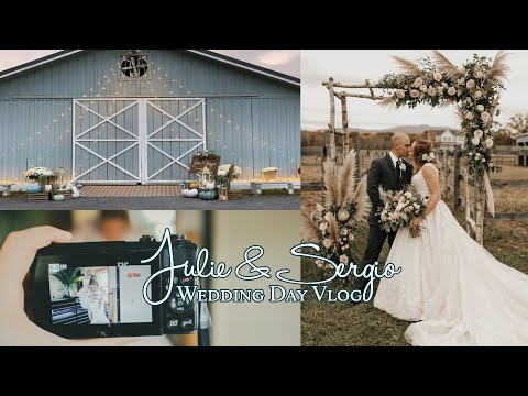 OUR WEDDING DAY VLOG | Diary of an Army Wife | Rustic Pinterest Fall Barn in New York Fairytale