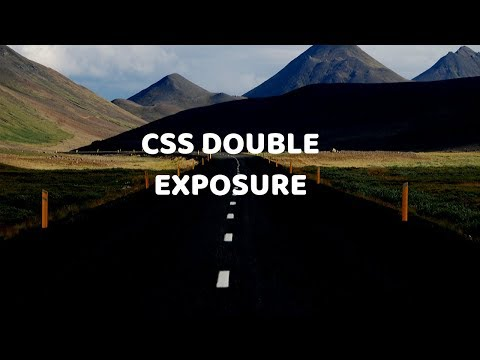 CSS Double Exposure animation Effect | CSS Mix-Blend Mode
