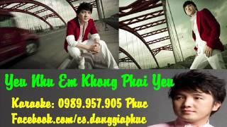 Yêu Như Em Không Phải Yêu Karaoke Beat Chuẩn - Dương Ngọc Thái