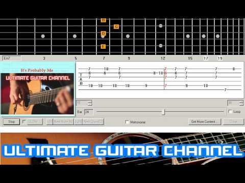 Guitar Solo Tab Its Probably Me Sting Youtube