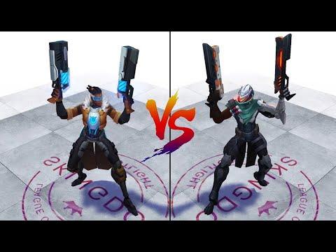 Pulsefire Lucian VS PROJECT Lucian Skin Comparison