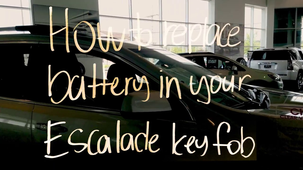 How To Change The Battery In Cadillac Escalde Key Fob Youtube