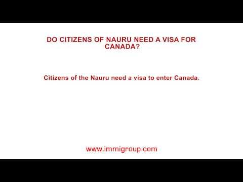 Do citizens of Nauru need a visa for Canada?