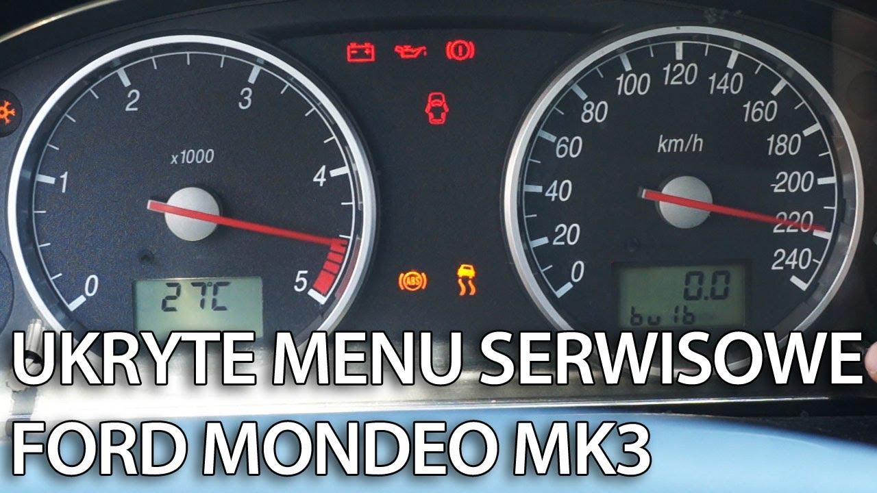 Jak Wejść W Menu Serwisowe Zegar 243 W W Ford Mondeo Mk3