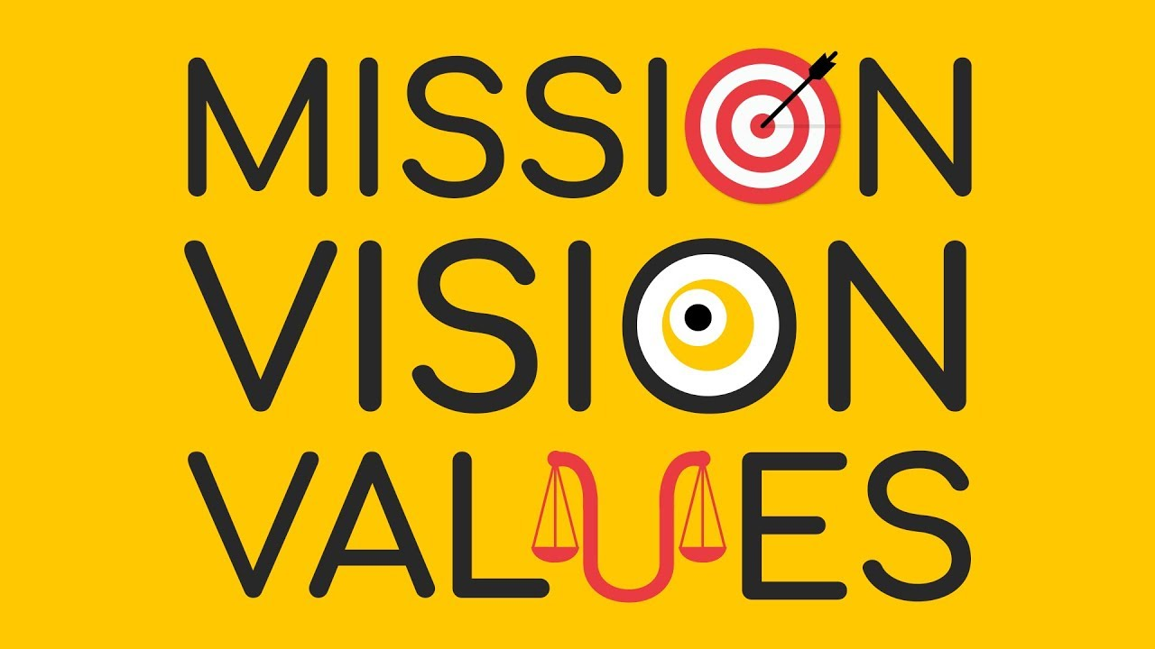 the mission  vision  and values statements