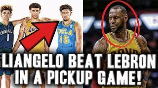 The Story Of When Liangelo Ball Beat Lebron James In A Pick Up Basketball Game