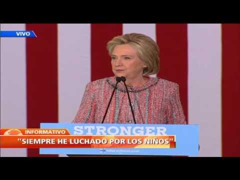 """""""Es genial estar de vuelta"""": Hillary Clinton retoma su campaña presidencial desde Carolina del Norte"""