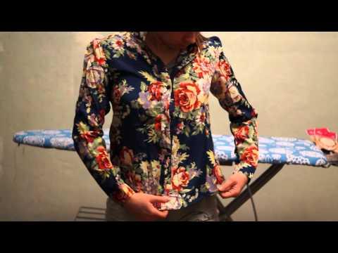 Women Vintage Chiffon Long Sleeve Floral Print