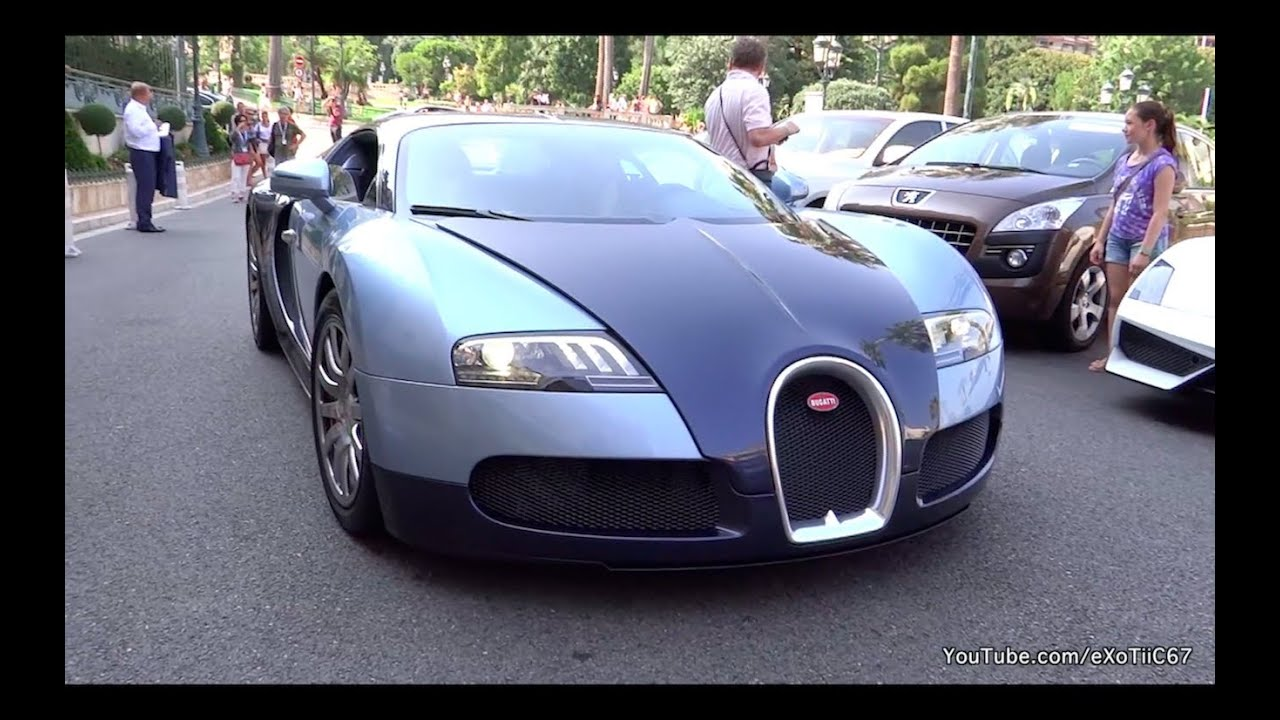 girl driving bugatti veyron in monaco startup loud sound and exhaust youtube. Black Bedroom Furniture Sets. Home Design Ideas