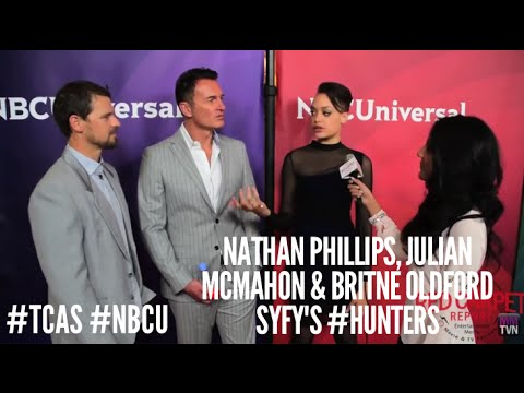Nathan Phillips, Julian McMahon & Britne Oldford Hunters at NBCUniversal's Press Tour TCA2016