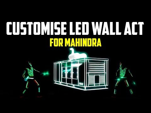 Customise LED Interactive | Tron Dance Show for Mahindra Gen