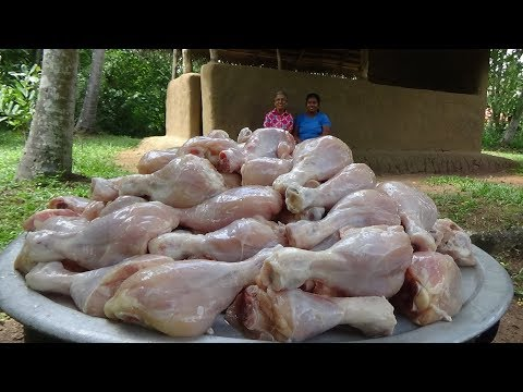 100 Chicken Drumsticks ❤ Cooking Chicken Drumsticks by Grandma and Daughter | Village Life