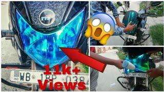 How to install headlight Tint- chameleone- Honda livo wraping