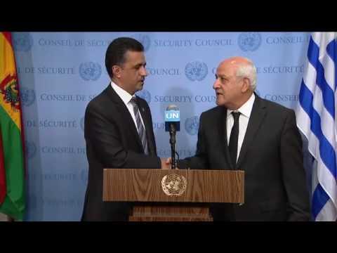 Sacha Sergio Llorentty Solíz (Bolivia) & Riyad H. Mansour (Palestine) on the Middle East