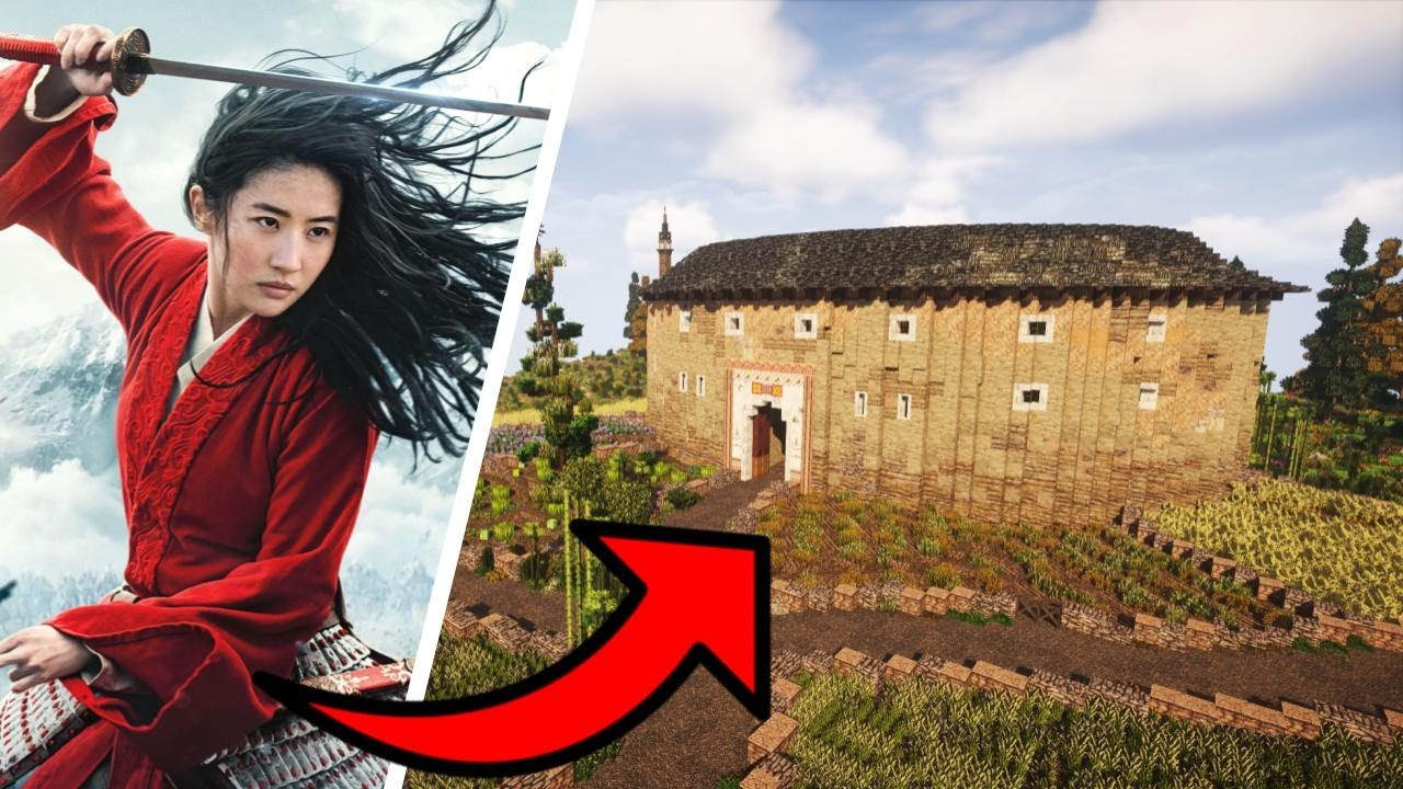 Chinese Tulou in Minecraft! Timelapse and Cinematic
