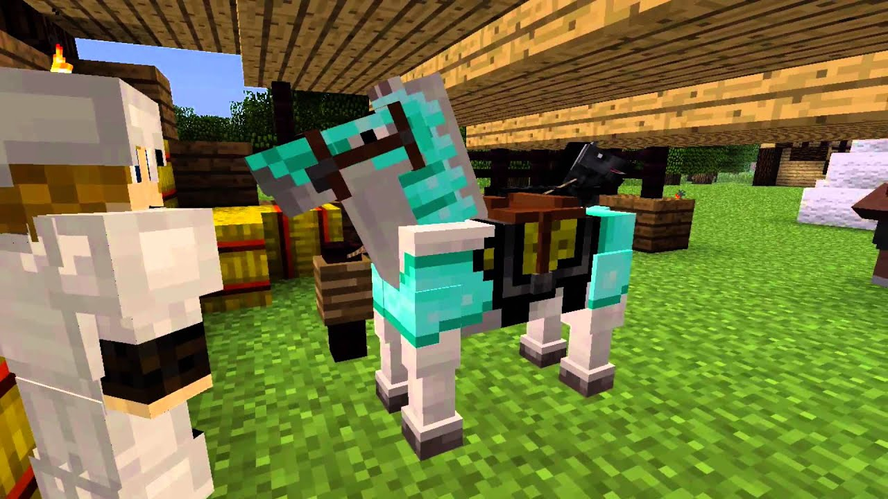 how to go on a horse in minecraft