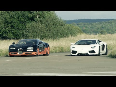 ultra hd 4k 308 kmh race lamborghini aventador vs bugatti veyron vitesse presented by samsung
