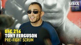 UFC 216: Tony Ferguson Open Workout Scrum - MMA Fighting