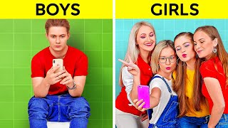 BOYS vs GIRLS || Morning Routine Moments And Fun Real Differences You Can Relate To By 123 GO! BOYS