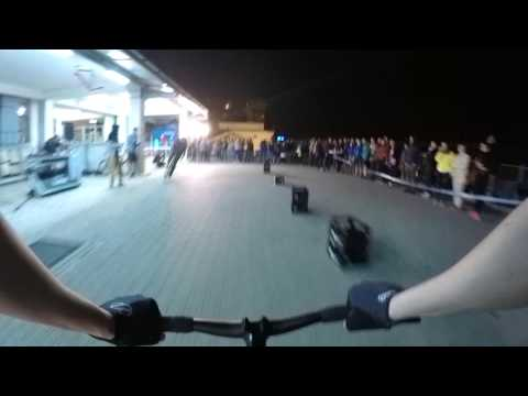 Fixie Garage bike race Prague - 8bar team - onboard cam